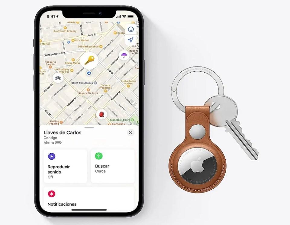Los Apple AirTags funcionan con la App Buscar de iOS