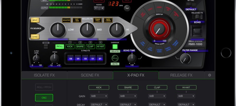 RMX-1000 para iPad X-PAD-FX-848×601