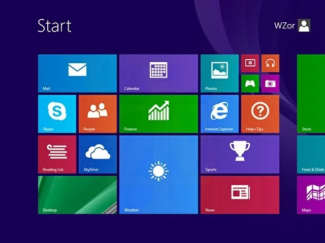 Windows 8.1 Start menu