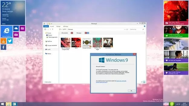 Windows 9 layout