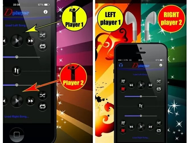 Double Player for Music with Headphones app