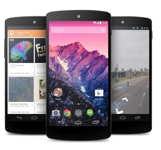 dispositivo google nexus 5
