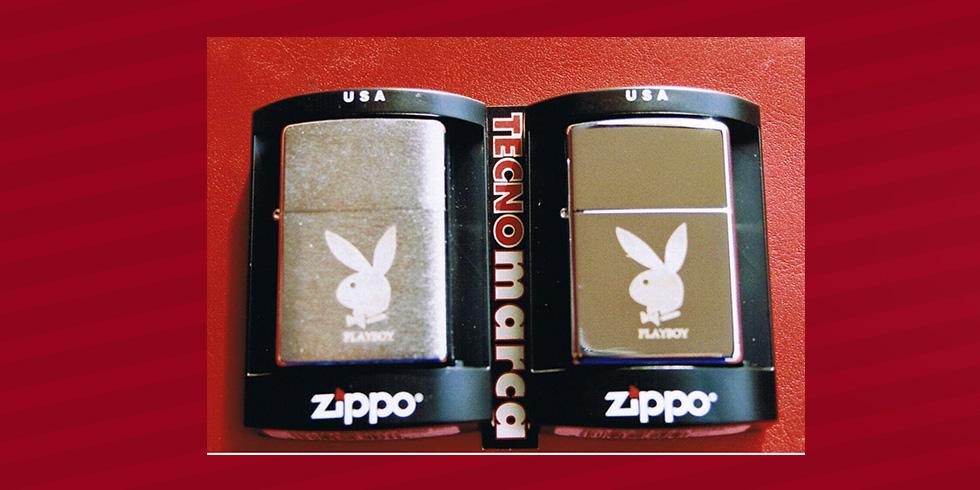 grabado láser acero Zippo Playboy