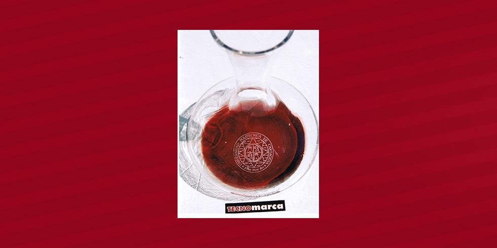 grabado láser catavinos de cristal Universidad Politécnica de Cartagena