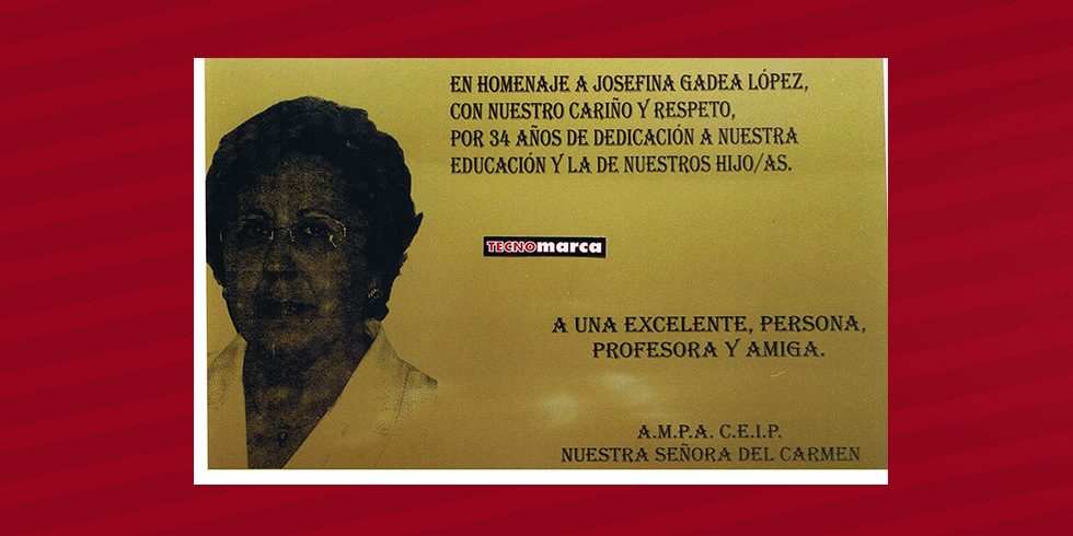 grabado láser foto Josefina Gadea