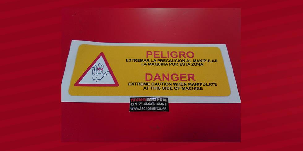 Etiquetas para maquinaria_Peligro