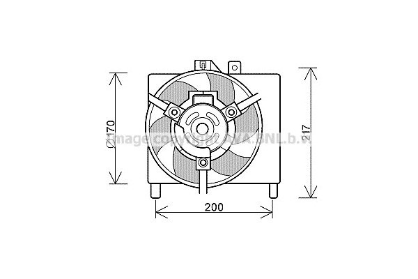 Ventola Intercooler Smart ForTwo 700 Benzina / 800 Diesel