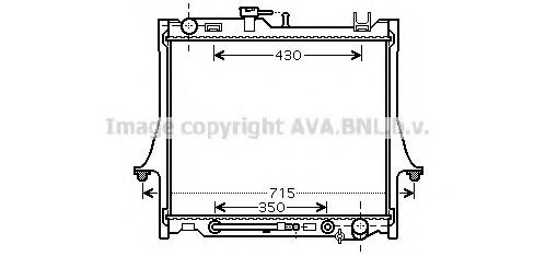 Radiatore Acqua Isuzu D-Max 3.0 Diesel DiTD +/- AC '02