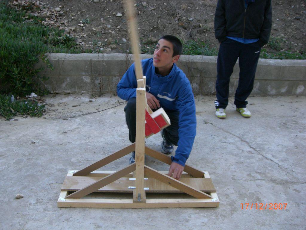 Catapultas trebuchet en pruebas 4
