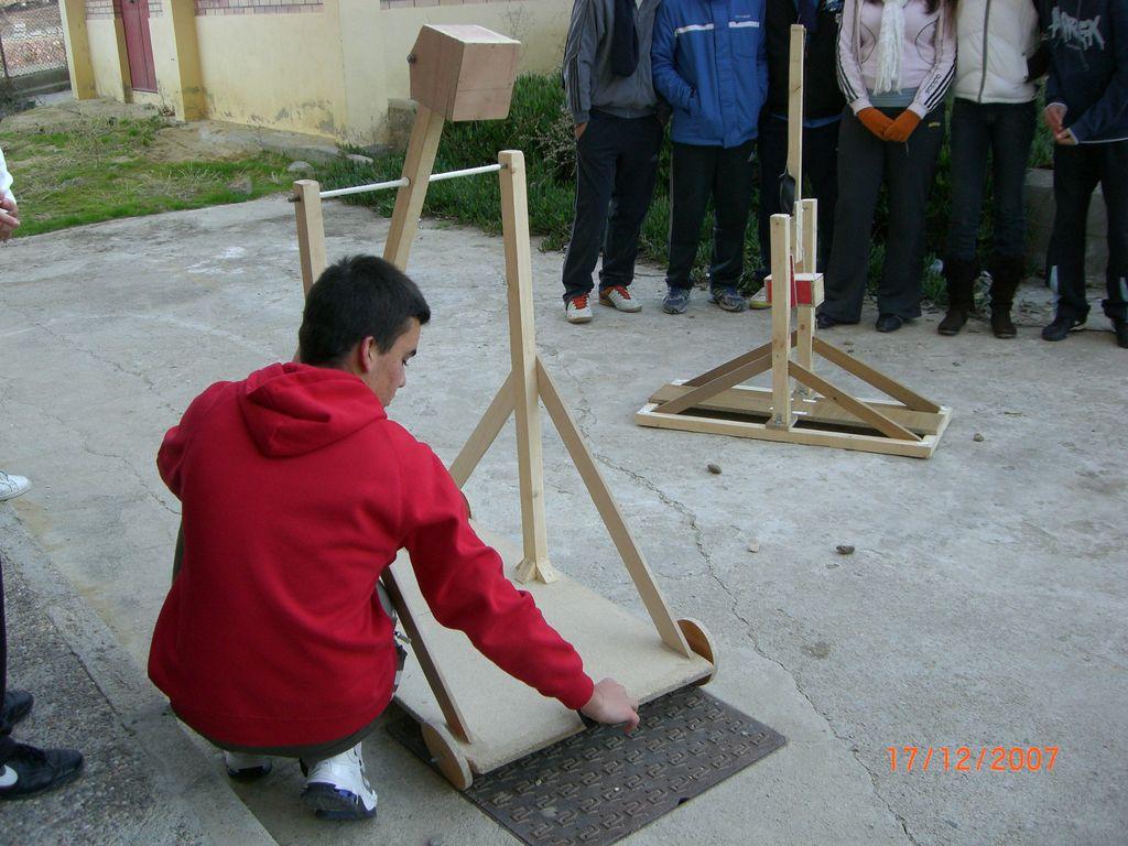 Catapultas trebuchet en pruebas 3