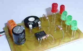 Circuito intermitente con diodos leds usando el integrado 555- pcb