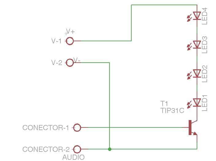 circuito vúmetro leds