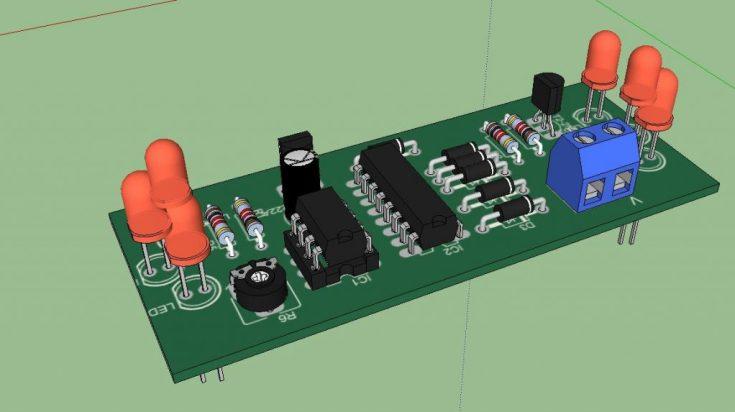 Proyecto para montar juego de luces estroboscópicas- Proyectos, Electrónica