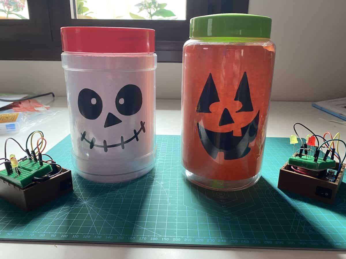 adorno halloween con arduino
