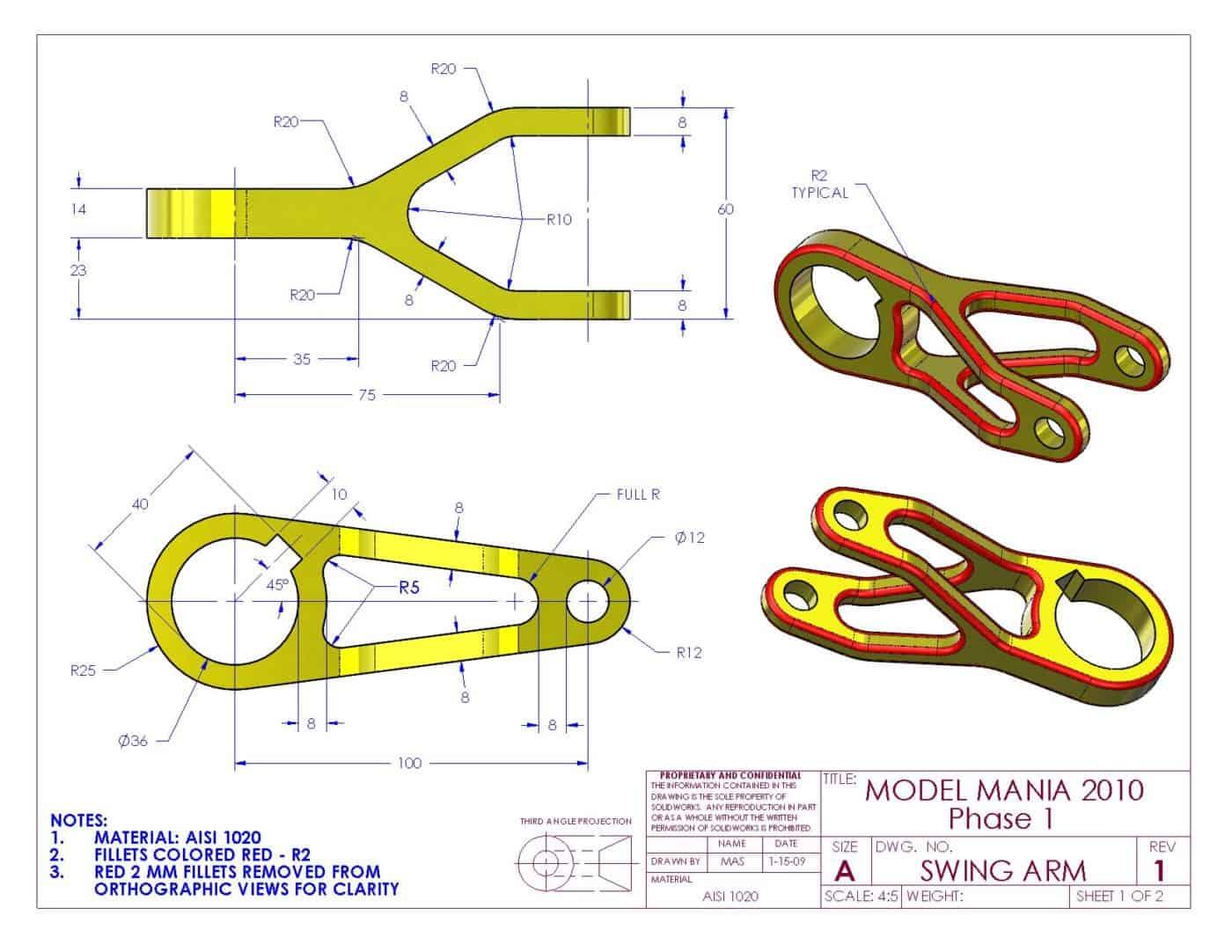 FreeCad pieza 16 model mania 2010
