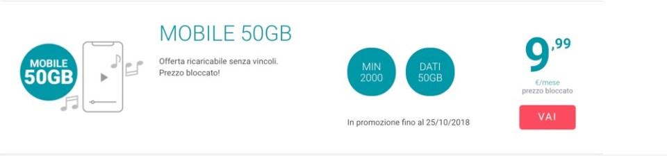 Tiscali Mobile 50GB