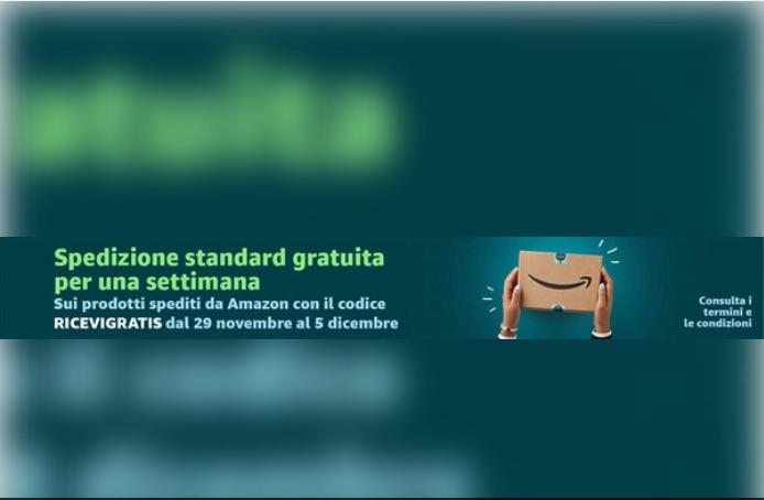 f5fb14daeff456 Acquisti Amazon, spedizione standard gratuita fino al 5 dicembre |  Tecnotariffe