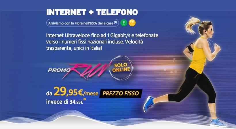Fastweb RUN Internet + telefono