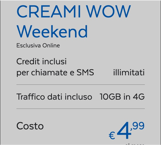 Creami Wow Weekend Postemobile