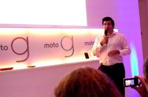 "Diego Barbero explica las bondades del Moto G, con Android 4.3 ""puro"""