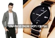 Low-Priced Online Shops for Men