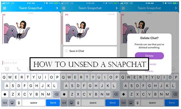 How to Unsend a Snapchat