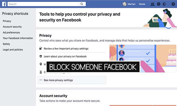 Block Someone Facebook
