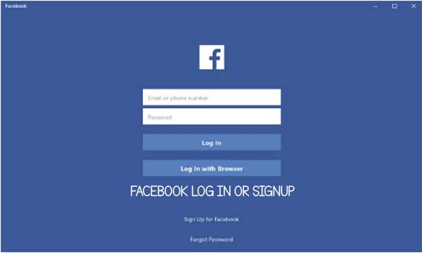 Facebook Log In Or Signup