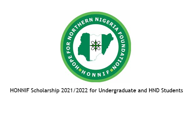 HONNIF Scholarship 2021/2022 for Undergraduate and HND Students