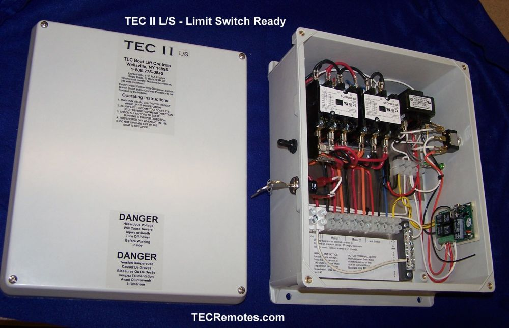 medium resolution of tec ii l s limit switch ready two motor remote