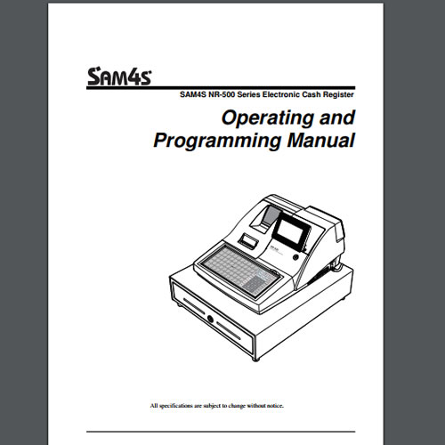 Sam4s NR-5XX Technical Manual, TecStore UK