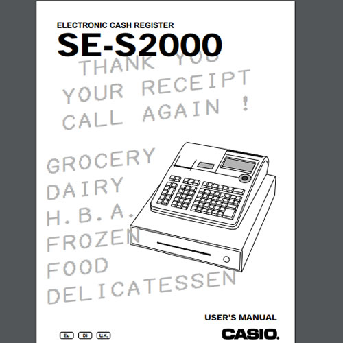 Casio SE-S2000 Manuals, TecStore UK