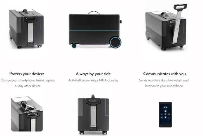 Robotic Suitcase (Foto: nuarobotics)  A mala do futuro: Segue seu dono como se fosse um cão mala inteligente segue dono