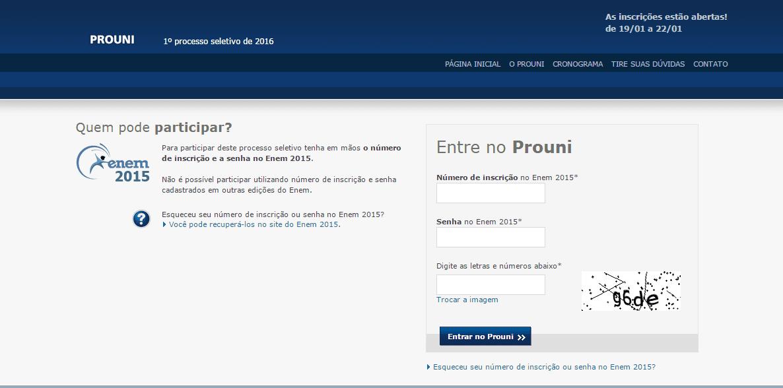 Depois você deve preencher todos os campos indicando sua inscrição do enem (Você encontra aqui enem.inep.gov.br/participante/) e também sua senha de acesso.