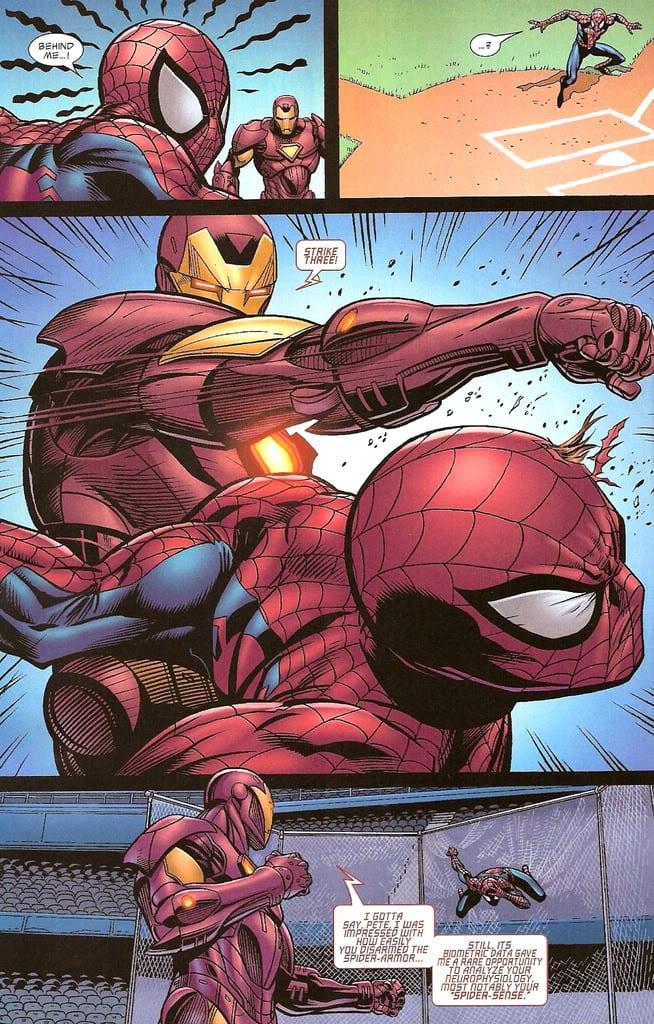 HQ - Homem-Aranha Vs. Homem de Ferro homem-aranha: detalhes do herói em capitão américa: guerra civil Homem-Aranha: Detalhes do herói em Capitão América: Guerra Civil scan0020 1