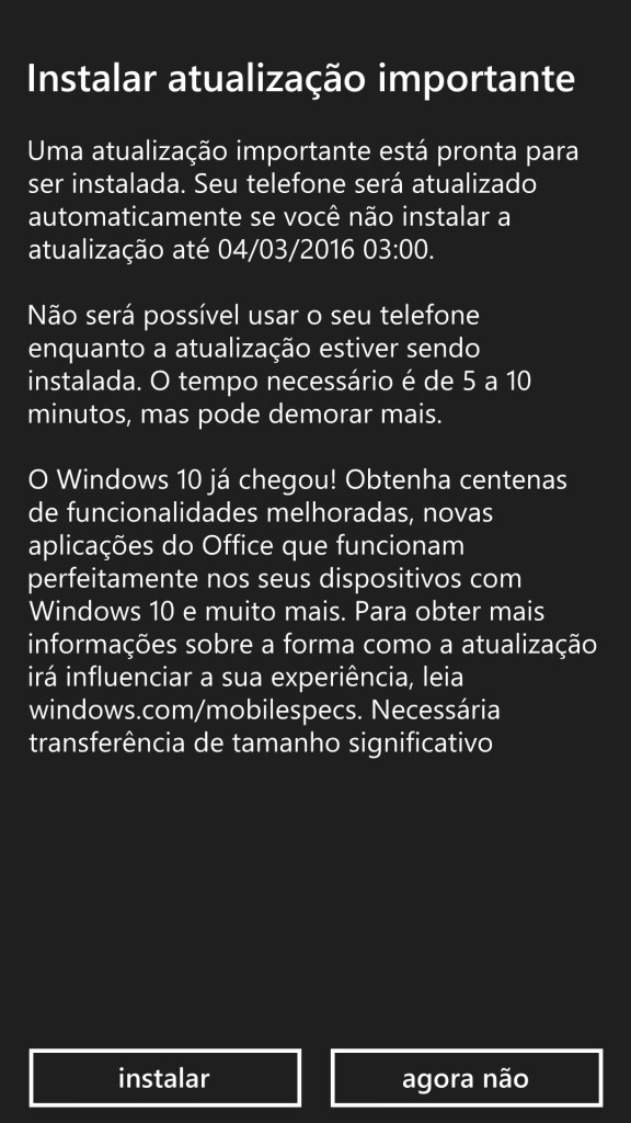 Windows 10 Mobile nova build do windows 10 mobile prepara para lançamento oficial