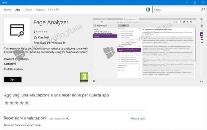 Microsoft Edge microsoft edge ganha sua primeira extensão na windows store Microsoft Edge ganha sua primeira extensão na Windows Store page analyzer edge