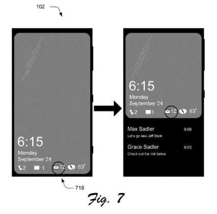 Windows 10 Mobile windows 10 mobile: nova patente pode trazer funções a tela de bloqueio Windows 10 Mobile: Nova patente pode trazer funções a tela de bloqueio Rich Lockscreen Notifications 1
