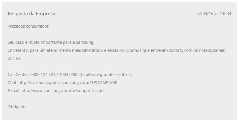 Samsung samsung é 'trolada' no reclame aqui: usuários revoltam