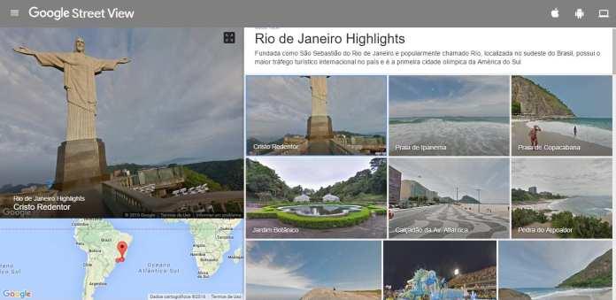 Rio 2016 rio 2016: passeie pelo cristo e outros lugares com o google street view Rio 2016: Passeie pelo Cristo e outros lugares com o Google Street View cristo streetView