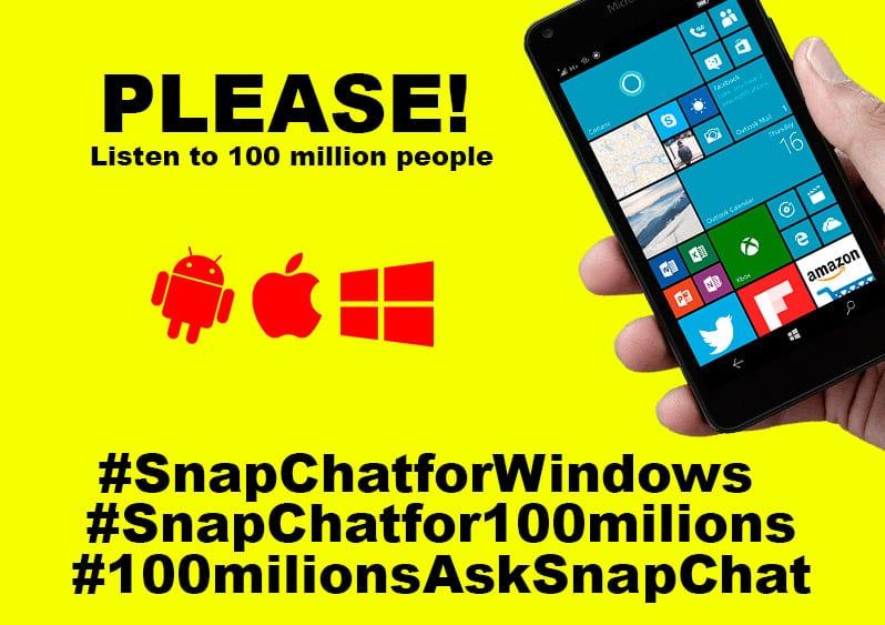 Snapchat participe! campanha pede snapchat para windows 10