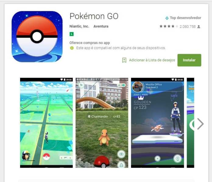 Pokémon Go pokémon go é lançado oficialmente no brasil Pokémon Go é lançado oficialmente no Brasil pokemonGo