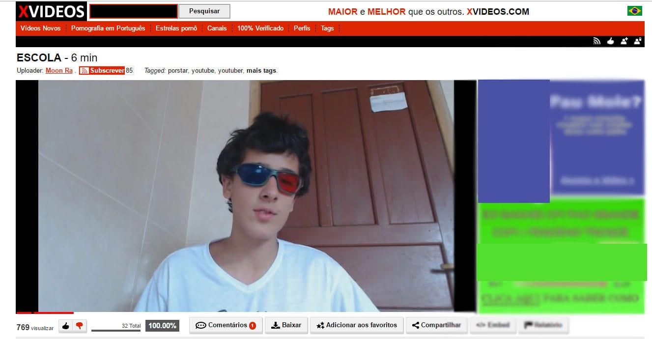 """XVideos youtuber brasileiro cria vlog no xvideos e fala sobre """"escola"""""""