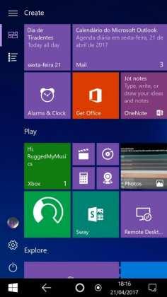 Windows 10 Mobile imagens reais indicam que windows 10 mobile pode mudar radicalmente