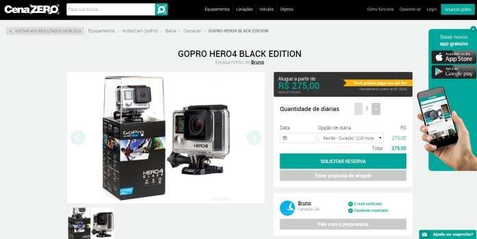 CenaZERO cenazero: já é possível alugar equipamentos de filmagem via internet CenaZERO: Já é possível alugar equipamentos de filmagem via internet cenaZero