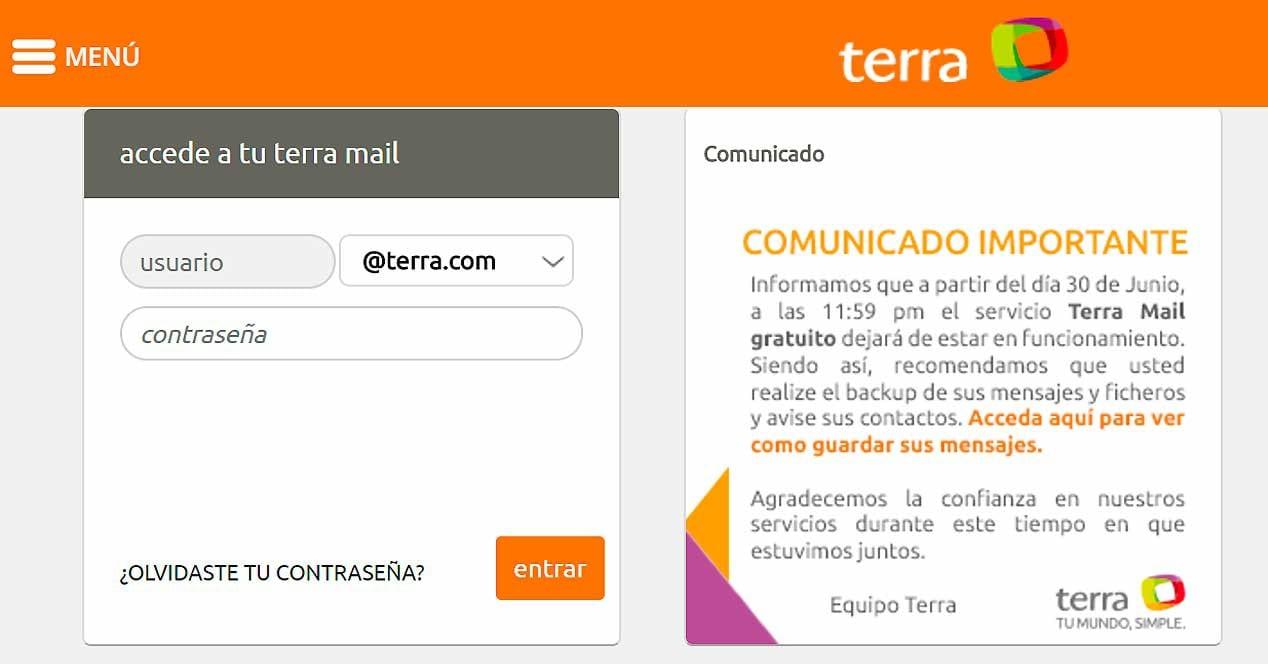 "portal terra anuncia fim do ""terra mail"" gratuito"