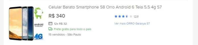 celulares piratas chega de orro! brasil vai começar a bloquear celulares piratas em setembro Chega de Orro! Brasil vai começar a bloquear celulares piratas em Setembro mercadoLivre s8Orro