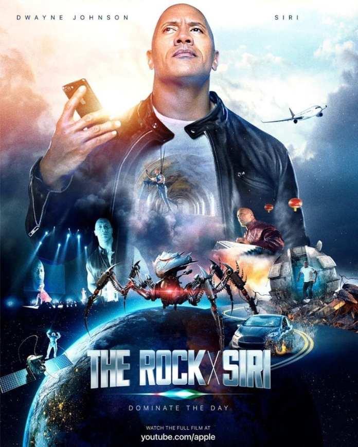 The Rock x Siri the rock x siri: dwayne johnson vai estrelar filme sobre a siri do iphone