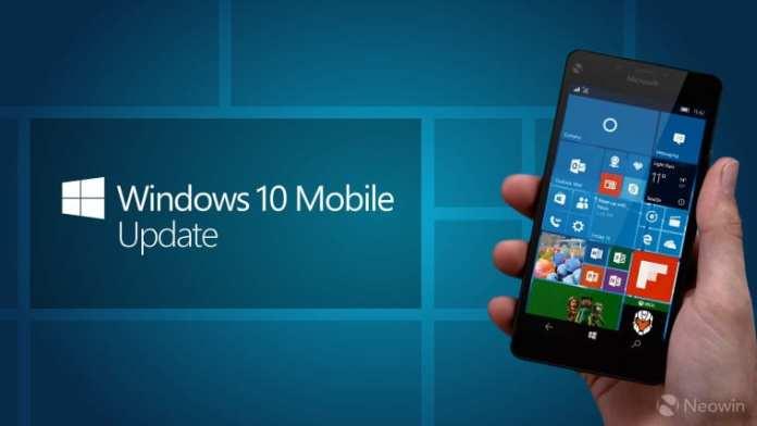 windows 10 mobile update