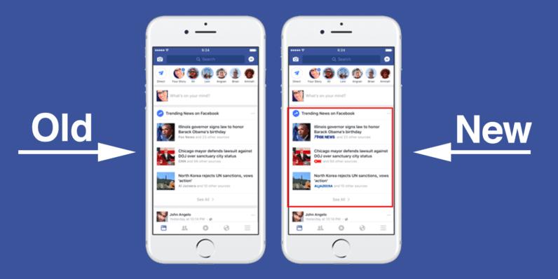 facebook anuncia recurso interessante para dar visibilidade a notícias